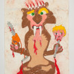 Camilo Restrepo. <em>Diego Vecino</em>, 2021. Water-soluble wax pastel, ink, tape and saliva on paper 11 3/4 x 8 1/4 inches (29.8 x 21 cm) thumbnail