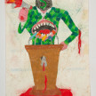Camilo Restrepo. <em>Polìtico</em>, 2021. Water-soluble wax pastel, ink, tape and saliva on paper 11 3/4 x 8 1/4 inches (29.8 x 21 cm) thumbnail