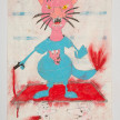Camilo Restrepo. <em>Pantera</em>, 2021. Water-soluble wax pastel, ink, tape and saliva on paper 11 3/4 x 8 1/4 inches (29.8 x 21 cm) thumbnail
