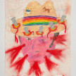 Camilo Restrepo. <em>Mexicano</em>, 2021. Water-soluble wax pastel, ink, tape and saliva on paper 11 3/4 x 8 1/4 inches (29.8 x 21 cm) thumbnail