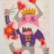 Camilo Restrepo. <em>Eduardo Duarte</em>, 2021. Water-soluble wax pastel, ink, tape and saliva on paper 11 3/4 x 8 1/4 inches (29.8 x 21 cm) thumbnail