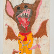 Camilo Restrepo. <em>Canoso</em>, 2021. Water-soluble wax pastel, ink, tape and saliva on paper 11 3/4 x 8 1/4 inches (29.8 x 21 cm) thumbnail