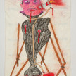 Camilo Restrepo. <em>Pàcora</em>, 2021. Water-soluble wax pastel, ink, tape and saliva on paper 11 3/4 x 8 1/4 inches (29.8 x 21 cm) thumbnail