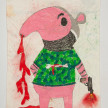 Camilo Restrepo. <em>Antonio</em>, 2021. Water-soluble wax pastel, ink, tape and saliva on paper 11 3/4 x 8 1/4 inches (29.8 x 21 cm) thumbnail