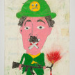 Camilo Restrepo. <em>Mudo</em>, 2021. Water-soluble wax pastel, ink, tape and saliva on paper 11 3/4 x 8 1/4 inches (29.8 x 21 cm) thumbnail