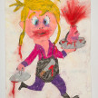 Camilo Restrepo. <em>Sabrosa</em>, 2021. Water-soluble wax pastel, ink, tape and saliva on paper 11 3/4 x 8 1/4 inches (29.8 x 21 cm) thumbnail