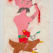 Camilo Restrepo. <em>Misael</em>, 2021. Water-soluble wax pastel, ink, tape and saliva on paper 11 3/4 x 8 1/4 inches (29.8 x 21 cm) thumbnail