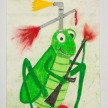 Camilo Restrepo. <em>Alirio</em>, 2021. Water-soluble wax pastel, ink, tape and saliva on paper 11 3/4 x 8 1/4 inches (29.8 x 21 cm) thumbnail