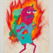 Camilo Restrepo. <em>Cucenteño</em>, 2021. Water-soluble wax pastel, ink, tape and saliva on paper 11 3/4 x 8 1/4 inches (29.8 x 21 cm) thumbnail