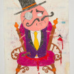 Camilo Restrepo. <em>Milord</em>, 2021. Water-soluble wax pastel, ink, tape and saliva on paper 11 3/4 x 8 1/4 inches (29.8 x 21 cm) thumbnail