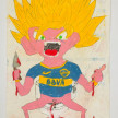 Camilo Restrepo. <em>Boquita</em>, 2021. Water-soluble wax pastel, ink, tape and saliva on paper 11 3/4 x 8 1/4 inches (29.8 x 21 cm) thumbnail