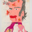 Camilo Restrepo. <em>Gildardo Cucho</em>, 2021. Water-soluble wax pastel, ink, tape and saliva on paper 11 3/4 x 8 1/4 inches (29.8 x 21 cm) thumbnail