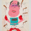 Camilo Restrepo. <em>Bulto de Sal</em>, 2021. Water-soluble wax pastel, ink, tape and saliva on paper 11 3/4 x 8 1/4 inches (29.8 x 21 cm) thumbnail