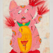 Camilo Restrepo. <em>Ñeco</em>, 2021. Water-soluble wax pastel, ink, tape and saliva on paper 11 3/4 x 8 1/4 inches (29.8 x 21 cm) thumbnail