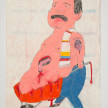 Camilo Restrepo. <em>Don Berna</em>, 2021. Water-soluble wax pastel, ink, tape and saliva on paper 11 3/4 x 8 1/4 inches (29.8 x 21 cm) thumbnail