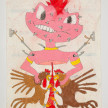 Camilo Restrepo. <em>Teylor</em>, 2021. Water-soluble wax pastel, ink, tape and saliva on paper 11 3/4 x 8 1/4 inches (29.8 x 21 cm) thumbnail