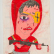Camilo Restrepo. <em>Palermo</em>, 2021. Water-soluble wax pastel, ink, tape and saliva on paper 11 3/4 x 8 1/4 inches (29.8 x 21 cm) thumbnail