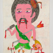 Camilo Restrepo. <em>Chamaco</em>, 2021. Water-soluble wax pastel, ink, tape and saliva on paper 11 3/4 x 8 1/4 inches (29.8 x 21 cm) thumbnail