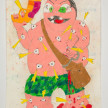 Camilo Restrepo. <em>Yomba</em>, 2021. Water-soluble wax pastel, ink, tape and saliva on paper 11 3/4 x 8 1/4 inches (29.8 x 21 cm) thumbnail