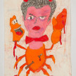 Camilo Restrepo. <em>Sabastiàn Colmenares</em>, 2021. Water-soluble wax pastel, ink, tape and saliva on paper 11 3/4 x 8 1/4 inches (29.8 x 21 cm) thumbnail