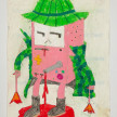 Camilo Restrepo. <em>Hinestroza</em>, 2021. Water-soluble wax pastel, ink, tape and saliva on paper 11 3/4 x 8 1/4 inches (29.8 x 21 cm) thumbnail