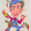 Camilo Restrepo. <em>Mario Pistola</em>, 2021. Water-soluble wax pastel, ink, tape and saliva on paper 11 3/4 x 8 1/4 inches (29.8 x 21 cm) thumbnail
