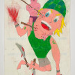 Camilo Restrepo. <em>Montañero</em>, 2021. Water-soluble wax pastel, ink, tape and saliva on paper 11 3/4 x 8 1/4 inches (29.8 x 21 cm) thumbnail
