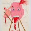 Camilo Restrepo. <em>Albert</em>, 2021. Water-soluble wax pastel, ink, tape and saliva on paper 11 3/4 x 8 1/4 inches (29.8 x 21 cm) thumbnail