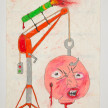 Camilo Restrepo. <em>Malacate</em>, 2021. Water-soluble wax pastel, ink, tape and saliva on paper 11 3/4 x 8 1/4 inches (29.8 x 21 cm) thumbnail