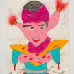 Camilo Restrepo. <em>Piolo</em>, 2021. Water-soluble wax pastel, ink, tape and saliva on paper 11 3/4 x 8 1/4 inches (29.8 x 21 cm) thumbnail