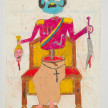 Camilo Restrepo. <em>Bernabè</em>, 2021. Water-soluble wax pastel, ink, tape and saliva on paper 11 3/4 x 8 1/4 inches (29.8 x 21 cm) thumbnail
