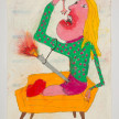 Camilo Restrepo. <em>Paquita</em>, 2021. Water-soluble wax pastel, ink, tape and saliva on paper 11 3/4 x 8 1/4 inches (29.8 x 21 cm) thumbnail