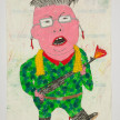 Camilo Restrepo. <em>Korea</em>, 2021. Water-soluble wax pastel, ink, tape and saliva on paper 11 3/4 x 8 1/4 inches (29.8 x 21 cm) thumbnail