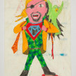 Camilo Restrepo. <em>Montilla</em>, 2021. Water-soluble wax pastel, ink, tape and saliva on paper 11 3/4 x 8 1/4 inches (29.8 x 21 cm) thumbnail