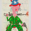 Camilo Restrepo. <em>Gringo</em>, 2021. Water-soluble wax pastel, ink, tape and saliva on paper 11 3/4 x 8 1/4 inches (29.8 x 21 cm) thumbnail
