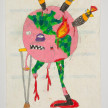 Camilo Restrepo. <em>Mocho Tierra</em>, 2021. Water-soluble wax pastel, ink, tape and saliva on paper 11 3/4 x 8 1/4 inches (29.8 x 21 cm) thumbnail