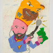 Camilo Restrepo. <em>Goyo</em>, 2021. Water-soluble wax pastel, ink, tape and saliva on paper 11 3/4 x 8 1/4 inches (29.8 x 21 cm) thumbnail