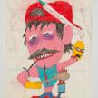 Camilo Restrepo. <em>Zar de la heroìna</em>, 2021. Water-soluble wax pastel, ink, tape and saliva on paper 11 3/4 x 8 1/4 inches (29.8 x 21 cm) thumbnail