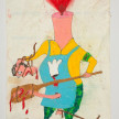 Camilo Restrepo. <em>Panadero</em>, 2021. Water-soluble wax pastel, ink, tape and saliva on paper 11 3/4 x 8 1/4 inches (29.8 x 21 cm) thumbnail