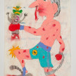 Camilo Restrepo. <em>Juliàn</em>, 2021. Water-soluble wax pastel, ink, tape and saliva on paper 11 3/4 x 8 1/4 inches (29.8 x 21 cm) thumbnail