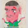 Camilo Restrepo. <em>Don Pacho</em>, 2021. Water-soluble wax pastel, ink, tape and saliva on paper 11 3/4 x 8 1/4 inches (29.8 x 21 cm) thumbnail