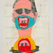 Camilo Restrepo. <em>Galillo</em>, 2021. Water-soluble wax pastel, ink, tape and saliva on paper 11 3/4 x 8 1/4 inches (29.8 x 21 cm) thumbnail