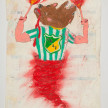 Camilo Restrepo. <em>Cali</em>, 2021. Water-soluble wax pastel, ink, tape and saliva on paper 11 3/4 x 8 1/4 inches (29.8 x 21 cm) thumbnail