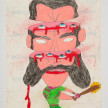 Camilo Restrepo. <em>Avelino</em>, 2021. Water-soluble wax pastel, ink, tape and saliva on paper 11 3/4 x 8 1/4 inches (29.8 x 21 cm) thumbnail