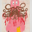 Camilo Restrepo. <em>Barbas</em>, 2021. Water-soluble wax pastel, ink, tape and saliva on paper 11 3/4 x 8 1/4 inches (29.8 x 21 cm) thumbnail