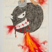 Camilo Restrepo. <em>Bomba</em>, 2021. Water-soluble wax pastel, ink, tape and saliva on paper 11 3/4 x 8 1/4 inches (29.8 x 21 cm) thumbnail