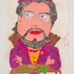 Camilo Restrepo. <em>Papi</em>, 2021. Water-soluble wax pastel, ink, tape and saliva on paper 11 3/4 x 8 1/4 inches (29.8 x 21 cm) thumbnail
