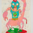Camilo Restrepo. <em>Alacràn</em>, 2021. Water-soluble wax pastel, ink, tape and saliva on paper 11 3/4 x 8 1/4 inches (29.8 x 21 cm) thumbnail