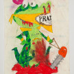 Camilo Restrepo. <em>Juancho Prada</em>, 2021. Water-soluble wax pastel, ink, tape and saliva on paper 11 3/4 x 8 1/4 inches (29.8 x 21 cm) thumbnail