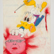 Camilo Restrepo. <em>Boliche</em>, 2021. Water-soluble wax pastel, ink, tape and saliva on paper 11 3/4 x 8 1/4 inches (29.8 x 21 cm) thumbnail
